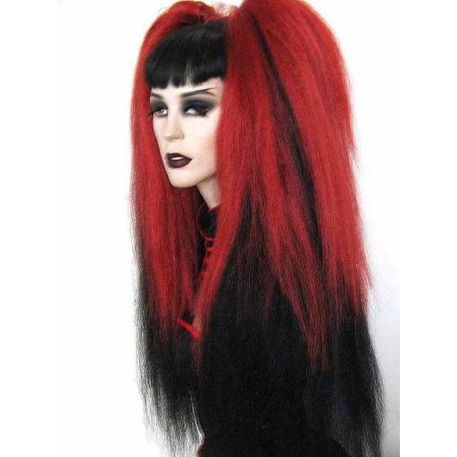 Warlock Hair Falls Transition Pepperoni to Black