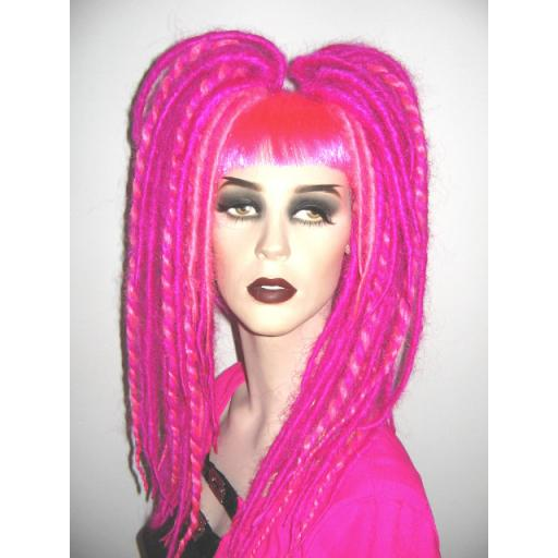 Twisted Dreads Fuchsia and Neon Pink