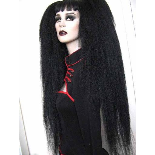 Hip Length Warlock Hair Falls in Black