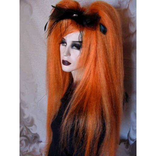 Warlock Hair Falls in Burnt Orange
