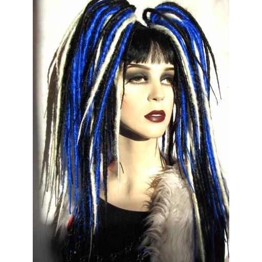 Synthetic Dread Falls In Blue,Black and White