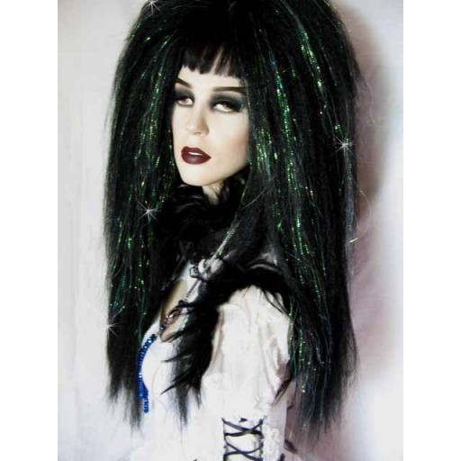 Glimmer Warlock Hair Falls in Black