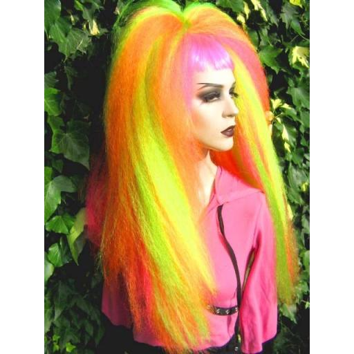Warlock Hair Falls in UV Yellow,Green,Orange,Pink
