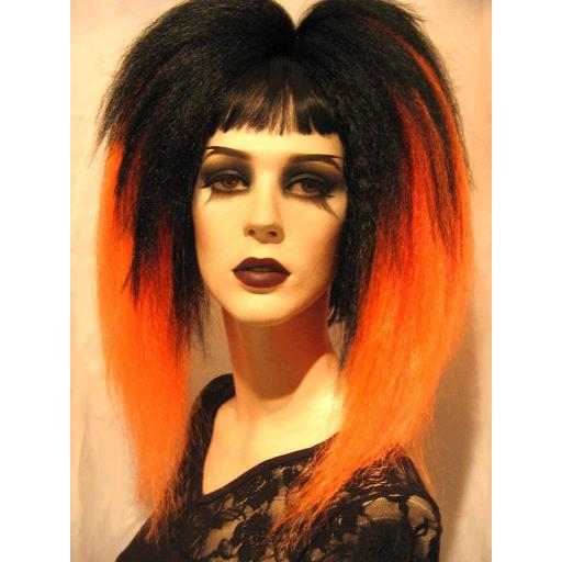 Transition Warlock Hair Falls Black to Orange