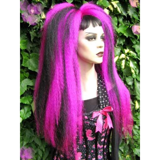 Warlocks Hair Falls UV Fuchsia Pink and Black
