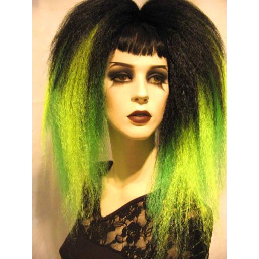 Transition Warlock Hair Falls Black Yellow Green