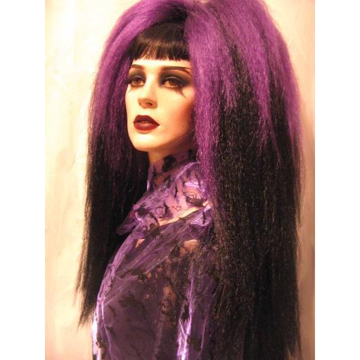 Transition Warlock Hair Falls Purple to Black