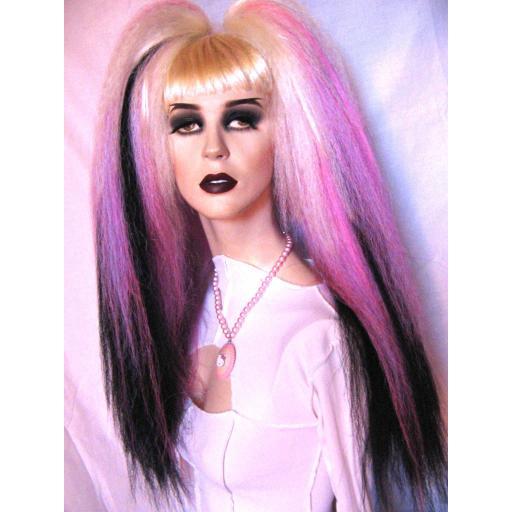 Transition Warlock Hair Falls White Pink Lilac Blk