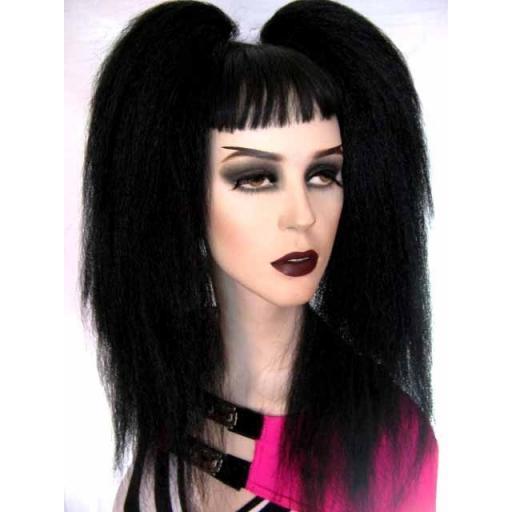Bust Length Warlock Hair Falls in Jet Black