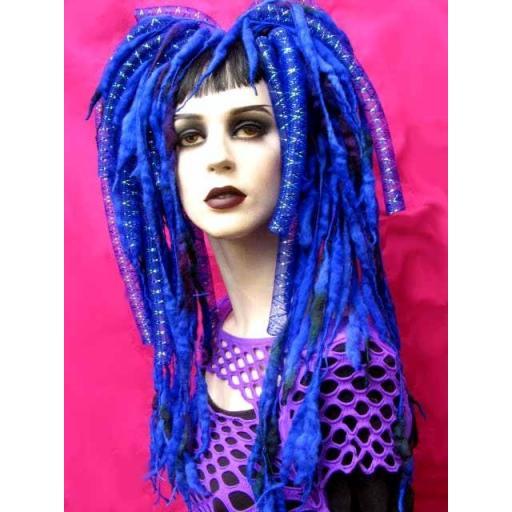 Sapphire Jewel Cyberlox Hair Falls
