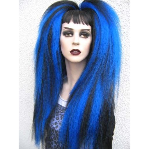 Warlock Hair Falls in Black and Sapphire Blue