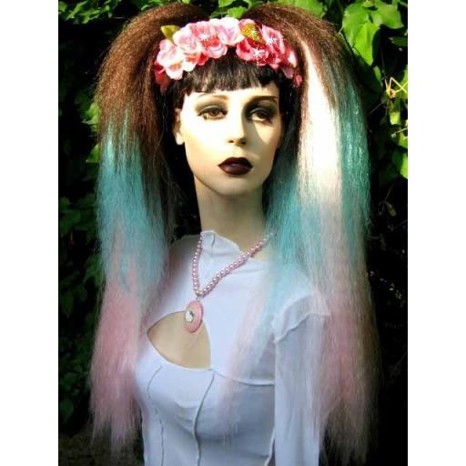 Transition Warlock Hair Falls in Brown Turq Pink