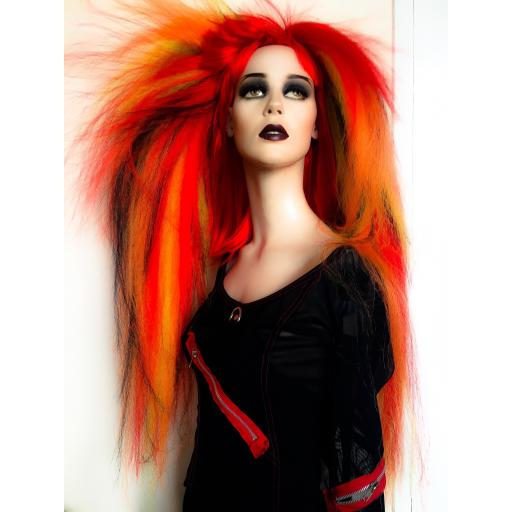Warlock Hair Falls In Fire Tones