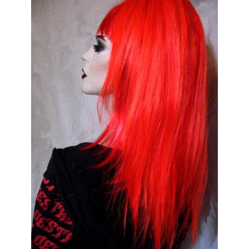 Synthetic Hair Fall in Paramore Red