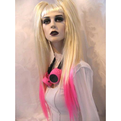 Waist Length Dip Dye Hair Falls Blonde/Hot Pink